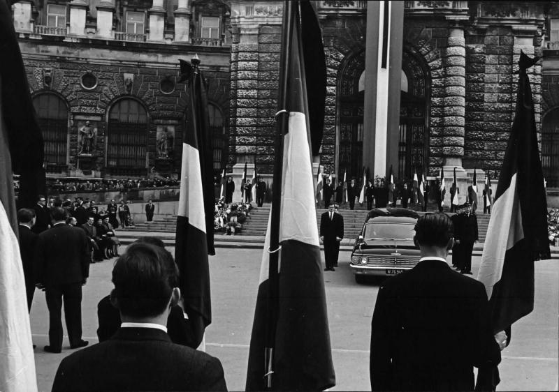 Gedenkveranstaltung für Ernst Kirchweger 1965