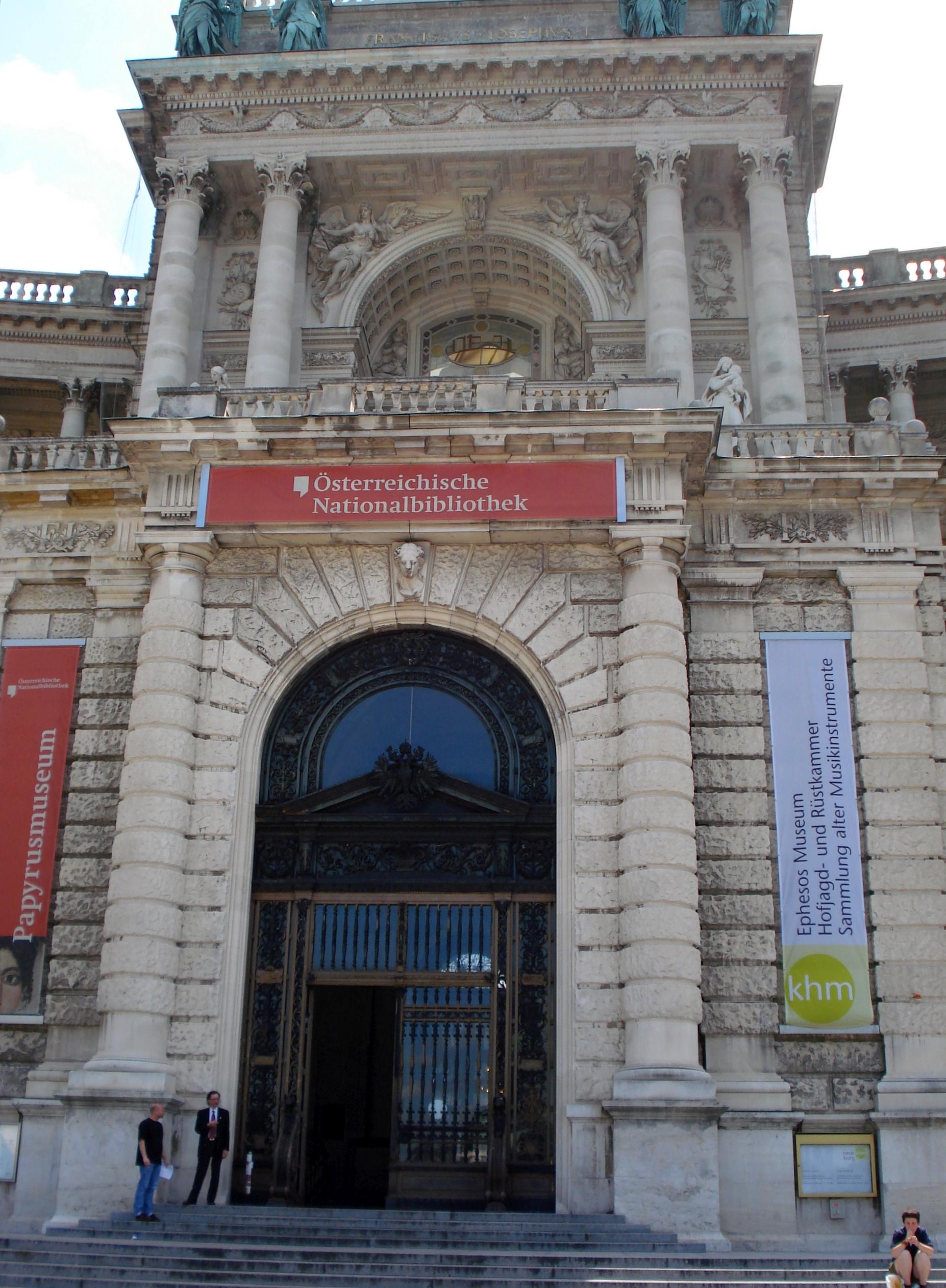 Der Eingang zur Nationalbibliothek