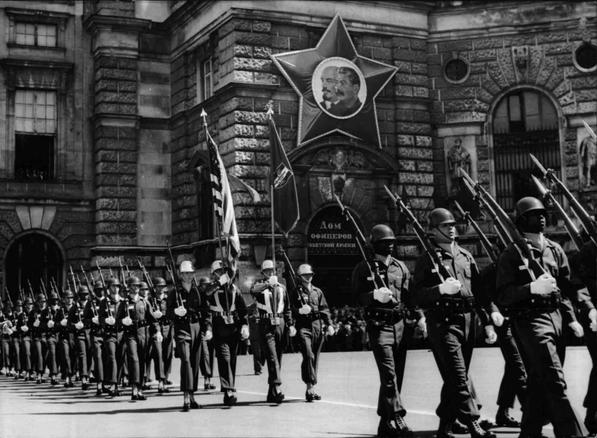 Letzte Wachablöse der Alliierten 1945